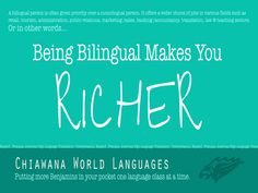 Being Bilingual Makes You... Richer