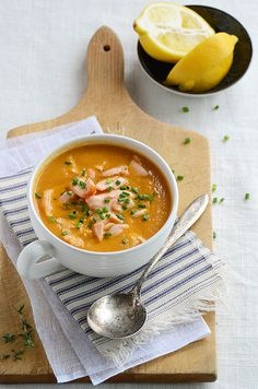 Salmon Bisque:  really delicious I added smokey and spicy paprika. Can substitute with any seafood too! Also need to check out more recipes at anediblemosaic F