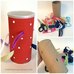 Tactile Ribbon Tugging Toy