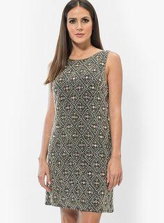 Buy Miss Selfridge Black Colored Solid Shift Dress Online - 4215159 - Jabong Lakme Fashion Week, Miss Selfridge, High Neck Dress, India, Formal Dresses, Shopping, Color, Black, Turtleneck Dress