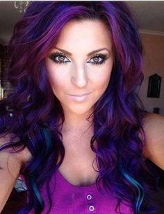Want this purple hair!!