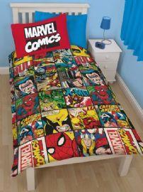 Marvel Comics Defenders Reversible Single Duvet Cover - Bedding Set