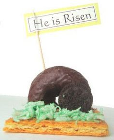 Easter Sunday treats - the tomb.  Love this - something different from the bunnies and chicks.  :)