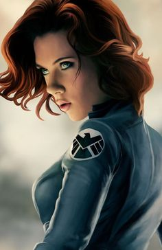 Avengers - Black Widow - Comic Art. I like this art, it's easy to mistaken it for a photograph. #comicart