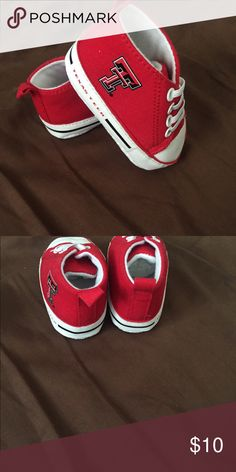 Texas Tech baby booties The size is 0-3 months. Brand new never worn. No box. Shoes Baby & Walker