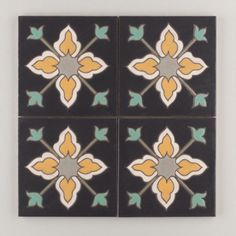 The Classic Cuerda Seca Handpainted Collection: Vigo in the Neutral Motif.  Available in a 6x6 size. $24/piece.