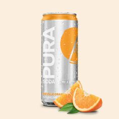 Pura Soda's Seville Orange flavour soft drink contains less sugar than other soft drinks, is made from natural flavours and contains no colourants. The flav Refreshing Drinks, Summer Drinks, Cold Drinks, Low Sugar Drinks, Best Gin, Orange Soda, Soft Drink, Good Find, Match Making