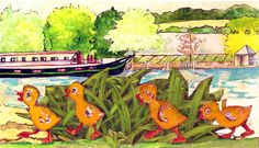 Meet the Royal Chickens Spring Chicks! Strolling along the River Seine in France! The perfect addition to a new baby's room or country kitchen! Royal Chicken, Chicken Brands, Chicken Art, Unique Image, Paper Decorations, Art Reproductions, Original Artwork, New Baby Products, Fine Art Prints