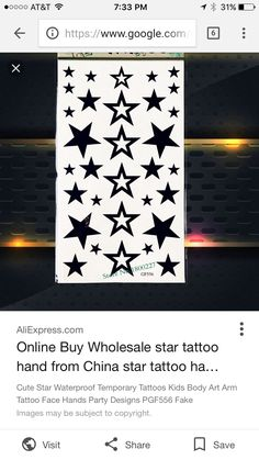Star Tattoos, Hand Tattoos, Cousin Tattoos, Fake Images, Cute Stars, Tattoos For Kids, Buying Wholesale, Arm Tattoo, Body Art