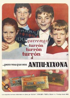 ANTIU-XIXONA. Aparte de los villancicos, un soniquete que los que hicimos EGB… Vintage Advertising Posters, Vintage Advertisements, Vintage Ads, Vintage Posters, Nostalgia, Creepy Kids, Curious Cat, Retro Recipes, Poster S