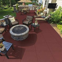 Patio and deck floor tile 2 inch terra cotta rubber floor tile. High quality durable outdoor patio rubber flooring option for home and commercial floors. Outdoor Rubber Tiles, Outdoor Tiles, Rubber Pavers, Outdoor Stairs, Outdoor Pergola, Pergola Ideas, Patio Installation, Rooftop Patio, Rubber Flooring