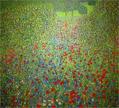 klimt landscapes | ... of Poppies Pictures: Posters by Gustav Klimt at Posterlounge.co.uk
