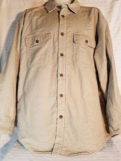 Woolrich Corduroy Coat British Tan Vintage Lined ~ Men's Large ~ Style 6215 #Woolrich #Corduroy