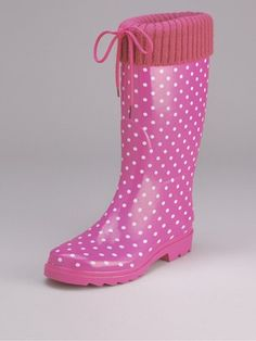 Pretty pink spotty wellies from Very.co.uk