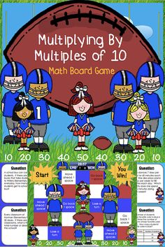 This multiplication game contains 30 WORD PROBLEM game cards and a game board to help students practice multiplying a single-digit whole number by multiples of 10. This game works great as a pair/group activity, or for use in math centers.