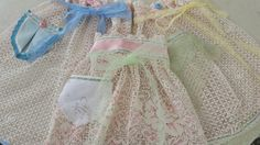 Vintage cafe curtains upcycled into flirty hostess aprons for the 2015 Country Living Fair in Columbus