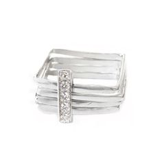 Firenze diamonds pave square ring Nr. 1  http://www.larissalandinez.com/ringsboutique/square-ring-18kt-white-gold-with-diamonds-pave1