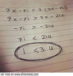Matemáticamente, estoy enamorado