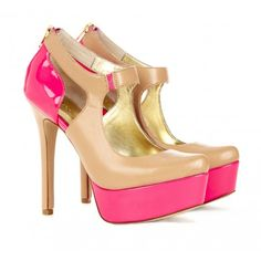 Sole Society - Mary jane pumps - Arianna - color: beach tan pink