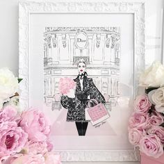 """5,250 aprecieri, 47 comentarii - Megan Hess (@meganhess_official) pe Instagram: """"One of the illustrations in my new book PARIS This one is of the iconic Dior boutique on L'Avenue -…"""""""