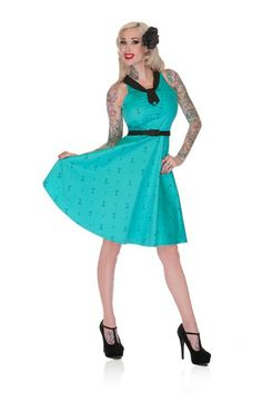 This martini print dress is perfect for a night out on the town! It is sleeveless, with a flair skirt and black accents around the neck and waist. From Voodoo Vixen at Inked Boutique. Alternative Clothing Brand, Alternative Dresses, Beautiful Outfits, Cute Outfits, Beautiful Clothes, Casual Dresses, Fashion Dresses, Women's Fashion, Punk Dress