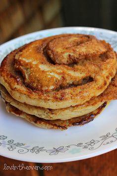 Cinnamon Roll Pancakes ....