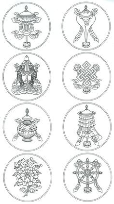 buddhist eight auspicious symbols | The Eight Auspicious Symbols of Buddhism - A Study in Spiritual ...