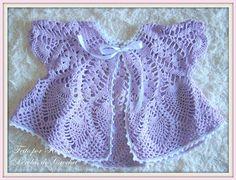 * Pérolas do Crochet: Casaquinho de bebe