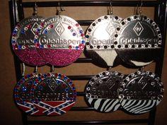 Copenhagen Earrings w/ Rhinestones