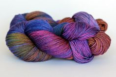 Iris: Purple, but with a kick! This colourway features surprising touches of golds, rusts, blues and greens.
