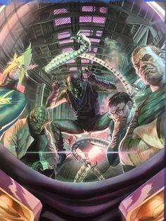 The Sinister Six - Alex Ross Batman Comic Art, Spiderman Art, Amazing Spiderman, Spiderman Pictures, Buy Comics, Marvel Comics Art, Marvel Villains, Marvel Heroes, Marvel Marvel