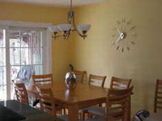 just picked this color for my room... benjamin moore honeywheat :)