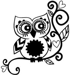 owl pictures to color - Bing Images Silhouette Cameo Projects, Silhouette Design, Vinyl Crafts, Vinyl Projects, Machine Silhouette Portrait, Mandala, Owl Tree, Owl Family, Zentangle