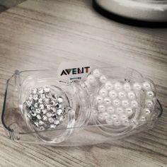 DIY: chupetas com cristais ou pérolas