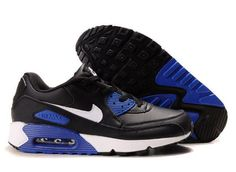 outlet store 5cd12 c6c0b Ken Griffey Shoes Nike Air Max 90 Black White Blue  Nike Air Max 90 -  Stylish Nike Air Max 90 Black White Blue sneakers with visible Max Air unit  in the ...