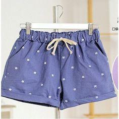 Cat Pattern Shorts