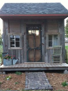 Keep it simple but yet so rustic.  The added space for a porch look so inviting.