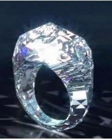 First ring made of diamond. 150 Carats and Only $70000000. Anyone interested????