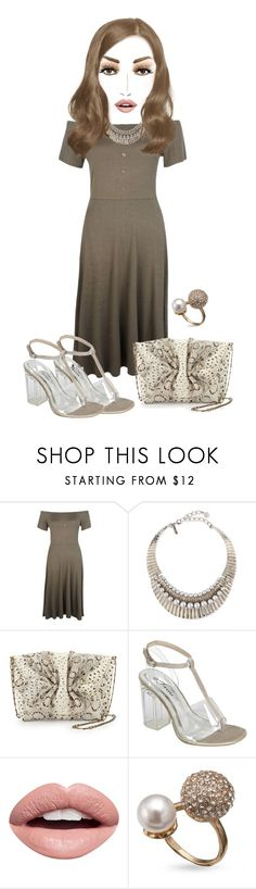 """""""Untitled #4882"""" by cristalabron ❤ liked on Polyvore featuring Boohoo, Oscar de la Renta, MAC Cosmetics, Carlos Falchi and Nevermind"""