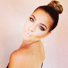 Natural makeup and an updo