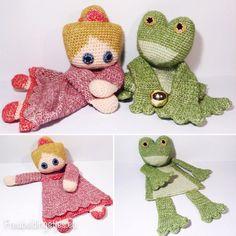 The Princess and the Frog | De Prinses en de Kikker  Leuke #lappenpoppen van #SaschaBlase