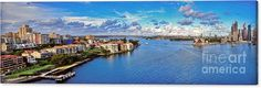 Photography Canvas Print featuring the photograph Panoramic Sydney Harbour 2 by Kaye Menner