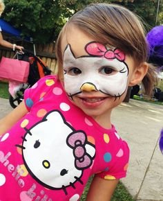 Kind als Hello Kitty schminken