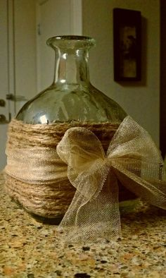 upcycle old wine or hard liquor bottles | Decorating ~ Repurpose arou…