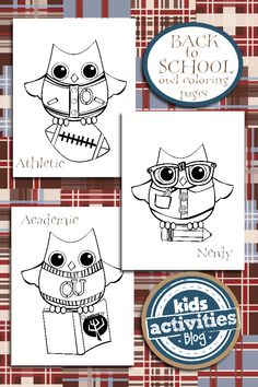 FREE Coloring Pages ---> Back to School Coloring Pages {Owl Themed}