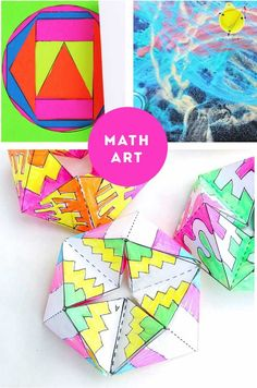 25 STEAM Projects for Kids including Math Art, Science Art, Building and Growing projects.
