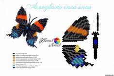Бабочки - Животные - Схемы плетения бисером - Сокровищница статей - Плетение бисером украшений, деревьев и цветов, схемы мк