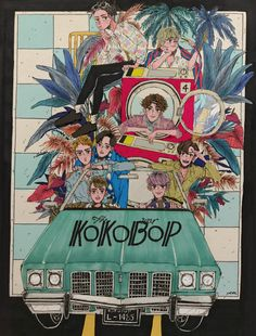 Image shared by Cathy Phan. Find images and videos about exo, fanart and kokobop on We Heart It - the app to get lost in what you love. Kpop Exo, Exo Kokobop, Chanyeol Baekhyun, K Pop, Exo Cartoon, Exo Anime, Kpop Backgrounds, Ko Ko Bop, Kpop Posters