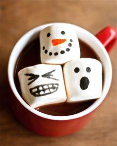 Marshmallows + Edible Markers = Marshmallow Happiness