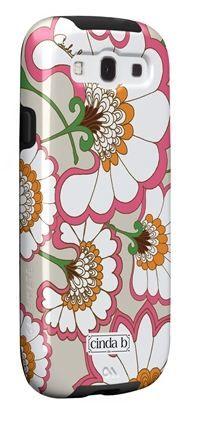 Tough Case for Samsung Galaxy in a fun art nouveau floral pattern